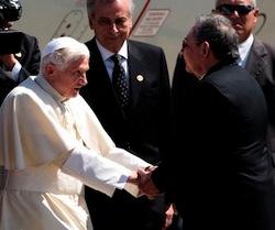 Palabras del Presidente cubano Raúl Castro al ofrecer la bienvenida en Santiago de Cuba a su Santidad Benedicto XVI.