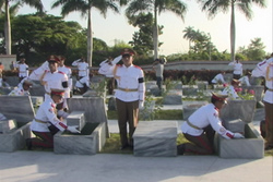 Homenaje a combatientes del Frente Norte de Las Villas en el Mausoleo de Yaguajay